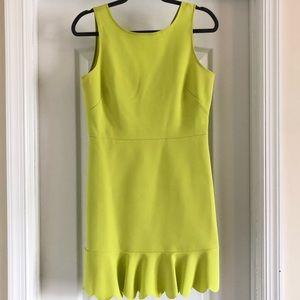 J Crew Sheath Dress - 6 - Chartreuse